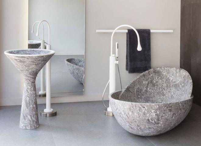 5 cách làm nhà tắm đẹp lên tức khắc nhờ đá cẩm thạch - Ảnh 10.