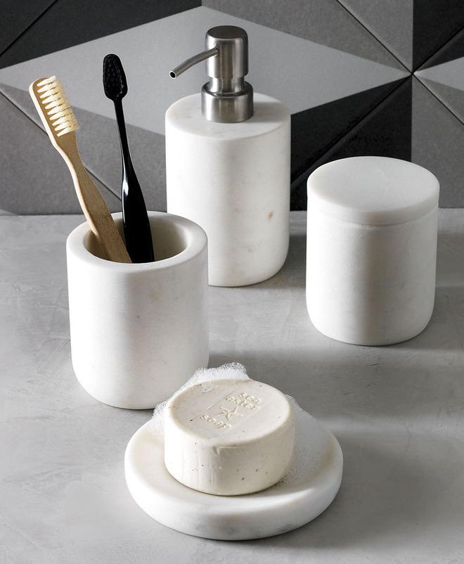 5 cách làm nhà tắm đẹp lên tức khắc nhờ đá cẩm thạch - Ảnh 11.