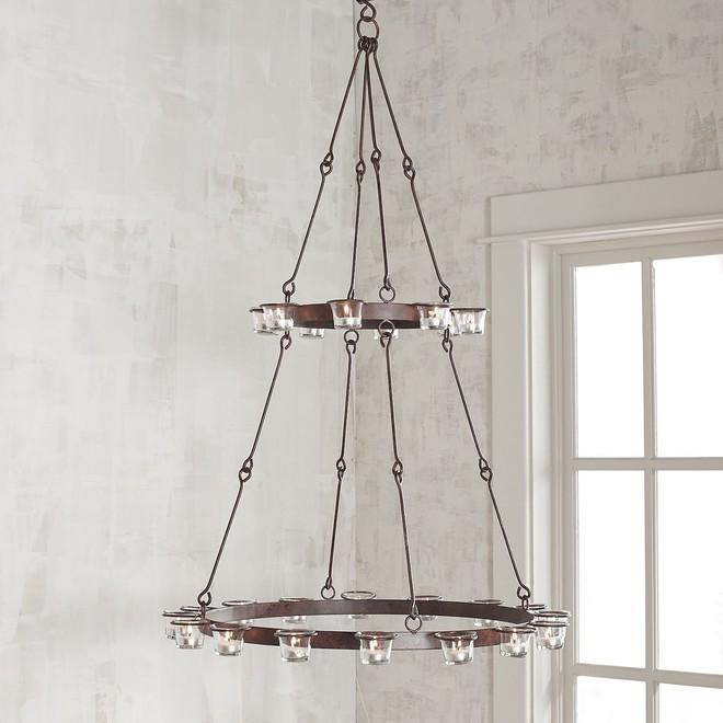 7 mẫu đèn chùm thả trần độc đáo bạn có thể mua hoặc tự làm một cách đơn giản - Ảnh 3.