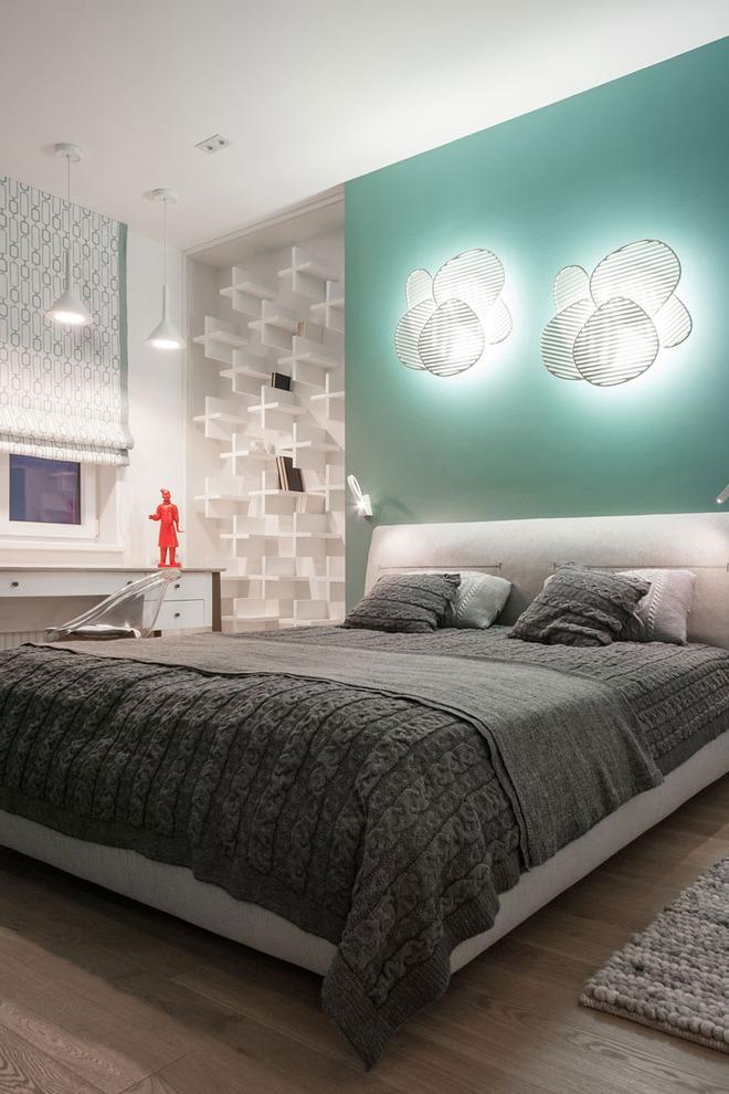 7 cách trang trí đầu giường tạo điểm nhấn cho phòng ngủ - Ảnh 12.