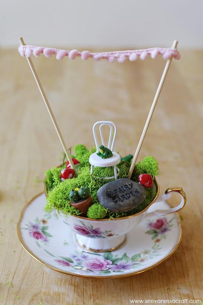 12 cách biến tấu tách uống trà thành đồ vật trang trí nhà đẹp mắt - Ảnh 2.