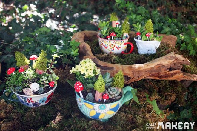 12 cách biến tấu tách uống trà thành đồ vật trang trí nhà đẹp mắt - Ảnh 3.