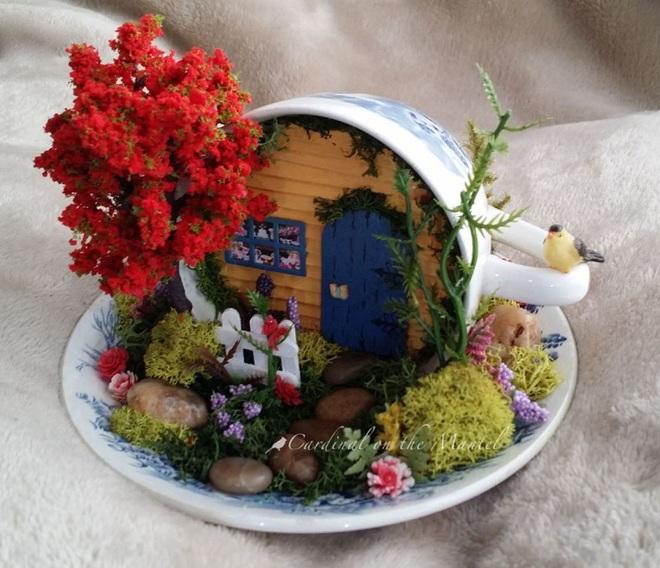 12 cách biến tấu tách uống trà thành đồ vật trang trí nhà đẹp mắt - Ảnh 5.