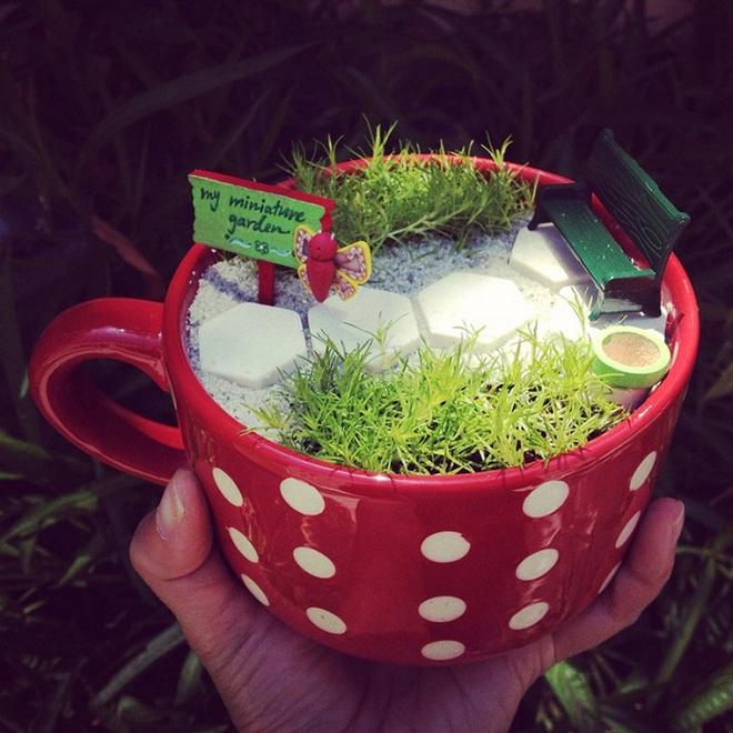 12 cách biến tấu tách trà uống nước thành đồ vật trang trí nhà đẹp mắt - Ảnh 10.