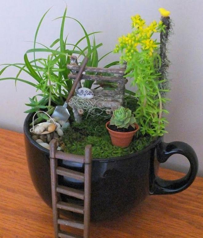 12 cách biến tấu tách uống trà thành đồ vật trang trí nhà đẹp mắt - Ảnh 11.