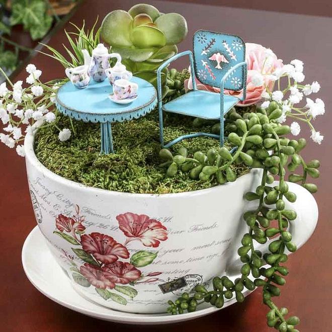 12 cách biến tấu tách uống trà thành đồ vật trang trí nhà đẹp mắt - Ảnh 12.