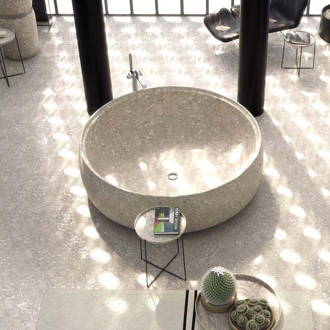 Chẳng thể nào cưỡng nổi sức lôi cuốn đầy mê hoặc của những mẫu bồn tắm bằng đá này - Ảnh 3.