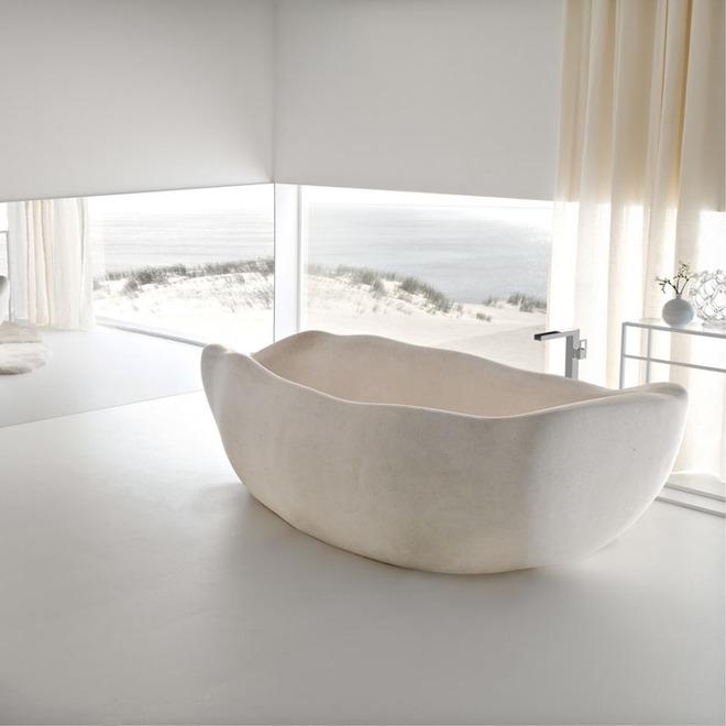 Chẳng thể nào cưỡng nổi sức lôi cuốn đầy mê hoặc của những mẫu bồn tắm bằng đá này - Ảnh 4.