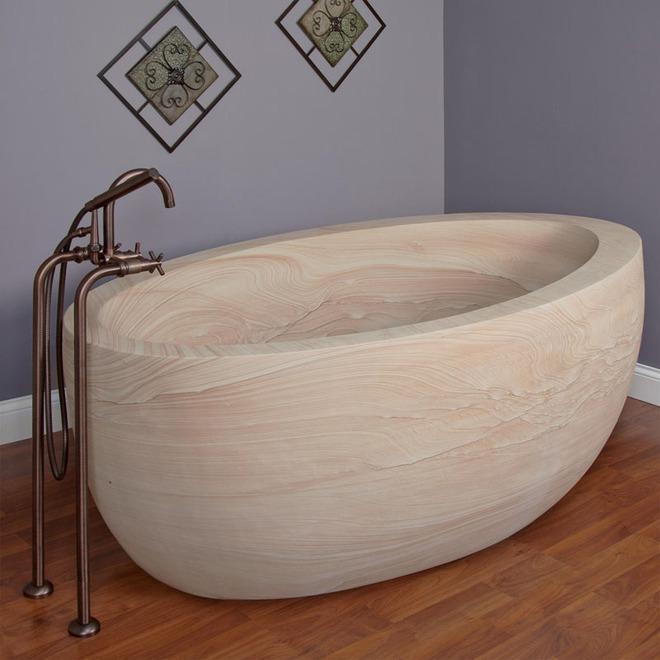 Chẳng thể nào cưỡng nổi sức lôi cuốn đầy mê hoặc của những mẫu bồn tắm bằng đá này - Ảnh 5.