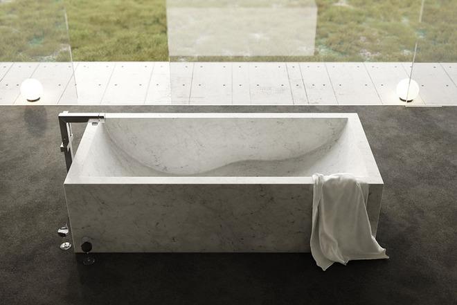 Chẳng thể nào cưỡng nổi sức lôi cuốn đầy mê hoặc của những mẫu bồn tắm bằng đá này - Ảnh 6.