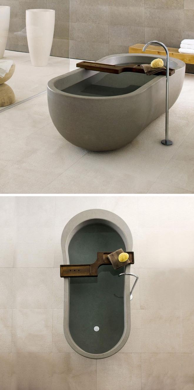 Chẳng thể nào cưỡng nổi sức lôi cuốn đầy mê hoặc của những mẫu bồn tắm bằng đá này - Ảnh 8.