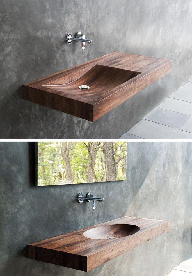 Chẳng cần nhiều, một chiếc bồn rửa tay bằng gỗ cũng đủ mang nét tự nhiên ngập tràn phòng tắm - Ảnh 3.