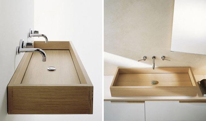 Chẳng cần nhiều, một chiếc bồn rửa tay bằng gỗ cũng đủ mang nét tự nhiên ngập tràn phòng tắm - Ảnh 8.