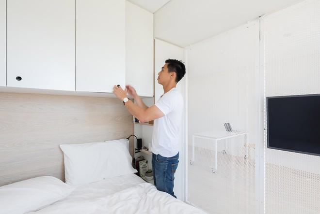 Áp dụng cách thiết kế của người Nhật, căn hộ 24m² trở nên rộng rãi và thoáng mát đến khó tin - Ảnh 4.