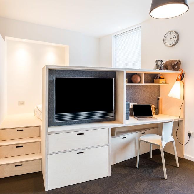 Áp dụng cách thiết kế của người Nhật, căn hộ 24m² trở nên rộng rãi và thoáng mát đến khó tin - Ảnh 7.