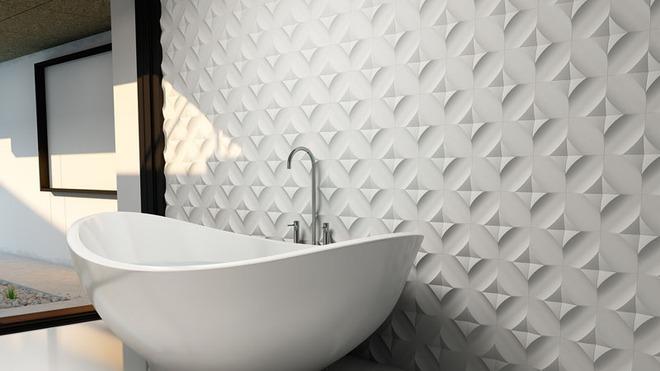 Phòng tắm trở nên sang chảnh bất ngờ với bức tường sử dụng gạch ốp 3D - Ảnh 3.
