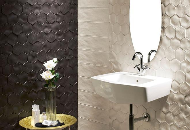 Phòng tắm trở nên sang chảnh bất ngờ với bức tường sử dụng gạch ốp 3D - Ảnh 4.