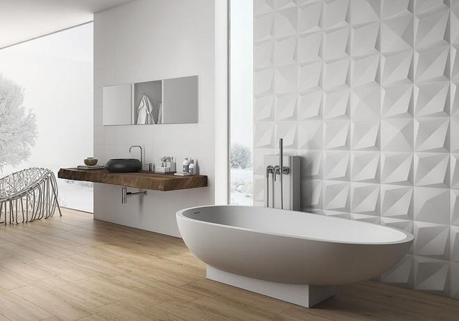 Phòng tắm trở nên sang chảnh bất ngờ với bức tường sử dụng gạch ốp 3D - Ảnh 7.