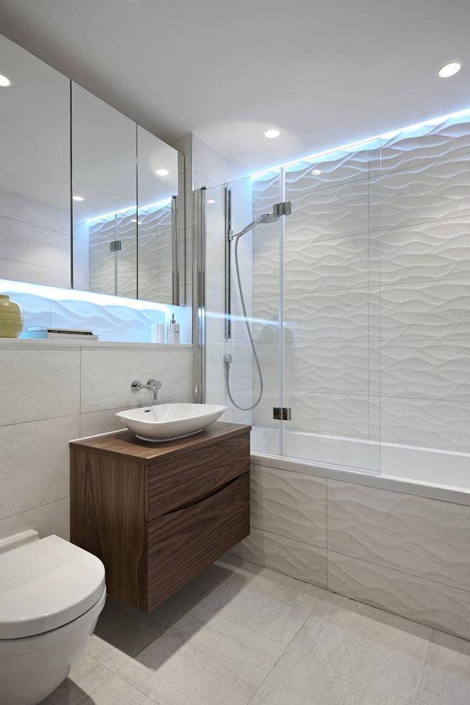 Phòng tắm trở nên sang chảnh bất ngờ với bức tường sử dụng gạch ốp 3D - Ảnh 12.