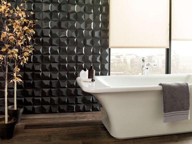 Phòng tắm trở nên sang chảnh bất ngờ với bức tường sử dụng gạch ốp 3D - Ảnh 13.