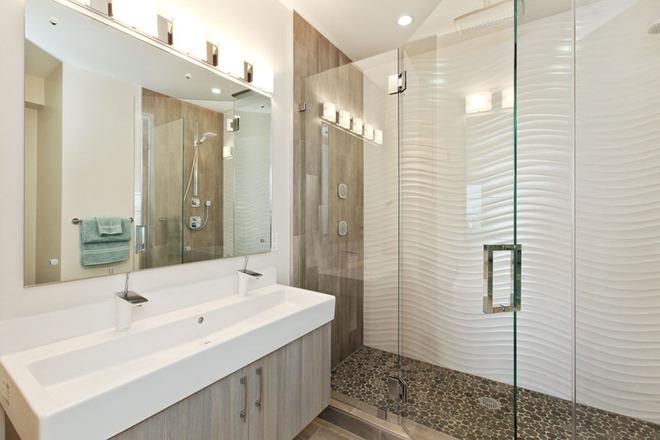 Phòng tắm trở nên sang chảnh bất ngờ với bức tường sử dụng gạch ốp 3D - Ảnh 14.