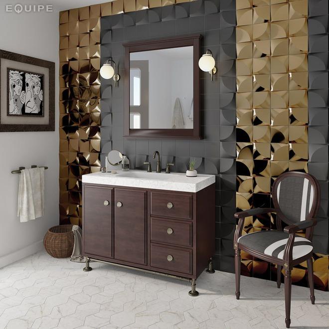 Phòng tắm trở nên sang chảnh bất ngờ với bức tường sử dụng gạch ốp 3D - Ảnh 15.