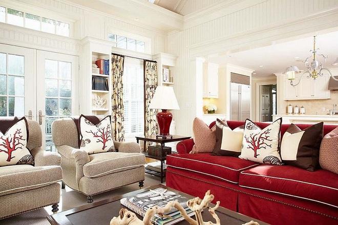 Xu hướng sử dụng ghế sofa màu đậm đang dần lên ngôi trong công cuộc tạo điểm nhấn cho phòng khách - Ảnh 2.