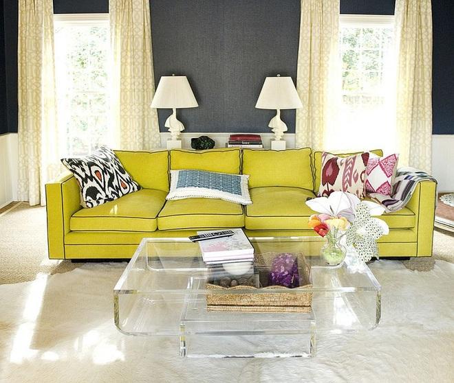 Xu hướng sử dụng ghế sofa màu đậm đang dần lên ngôi trong công cuộc tạo điểm nhấn cho phòng khách - Ảnh 7.