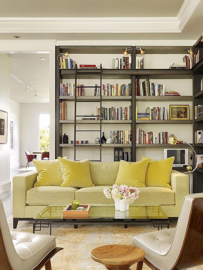 Xu hướng sử dụng ghế sofa màu đậm đang dần lên ngôi trong công cuộc tạo điểm nhấn cho phòng khách - Ảnh 8.
