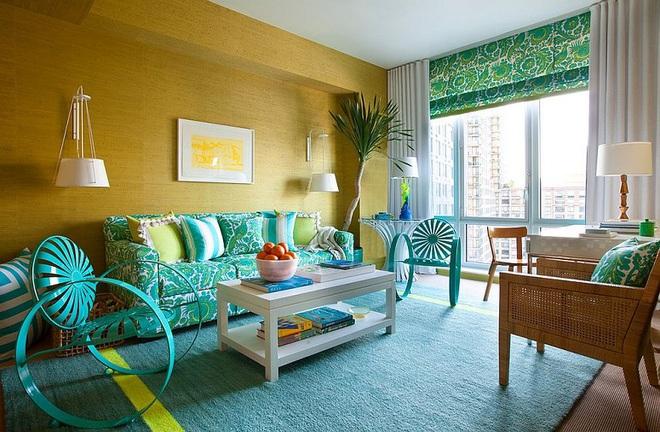 Xu hướng sử dụng ghế sofa màu đậm đang dần lên ngôi trong công cuộc tạo điểm nhấn cho phòng khách - Ảnh 10.