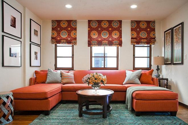 Xu hướng sử dụng ghế sofa màu đậm đang dần lên ngôi trong công cuộc tạo điểm nhấn cho phòng khách - Ảnh 14.
