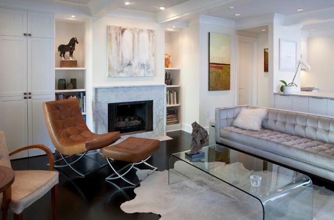 Gợi ý 20 kiểu ghế da màu nâu trang trí phòng khách không bao giờ lỗi mốt - Ảnh 2.