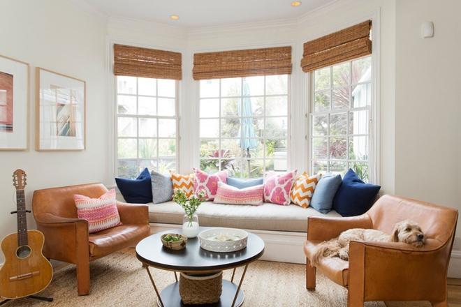 Gợi ý 20 kiểu ghế da màu nâu trang trí phòng khách không bao giờ lỗi mốt - Ảnh 3.