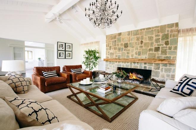 Gợi ý 20 kiểu ghế da màu nâu trang trí phòng khách không bao giờ lỗi mốt - Ảnh 4.