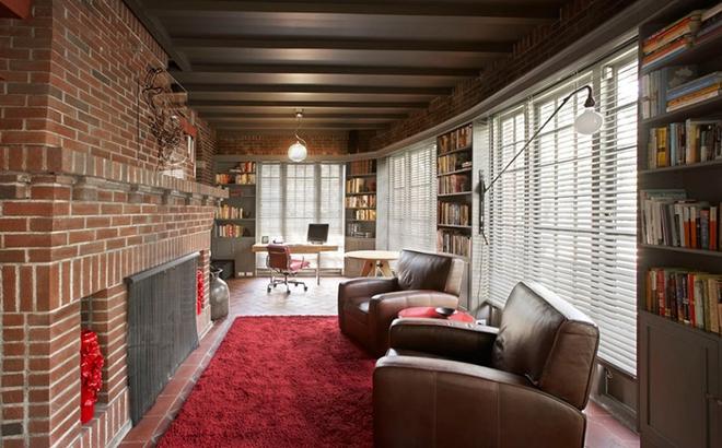 Gợi ý 20 kiểu ghế da màu nâu trang trí phòng khách không bao giờ lỗi mốt - Ảnh 5.