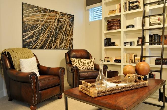 Gợi ý 20 kiểu ghế da màu nâu trang trí phòng khách không bao giờ lỗi mốt - Ảnh 6.