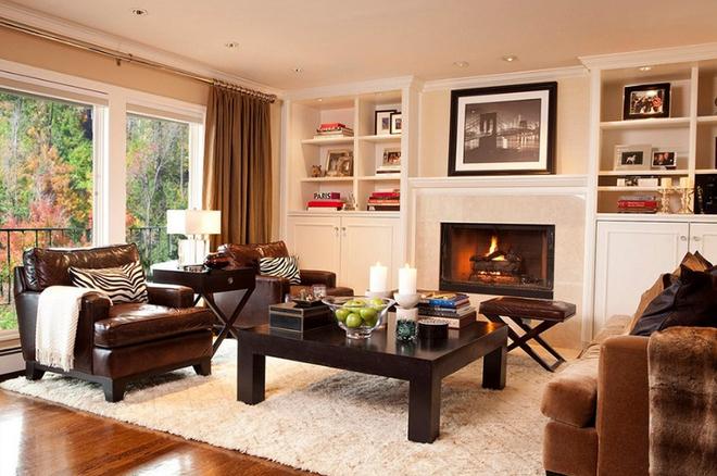 Gợi ý 20 kiểu ghế da màu nâu trang trí phòng khách không bao giờ lỗi mốt - Ảnh 7.