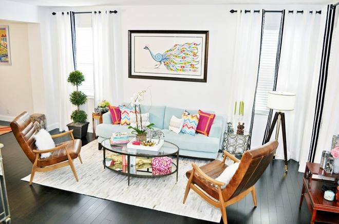 Gợi ý 20 kiểu ghế da màu nâu trang trí phòng khách không bao giờ lỗi mốt - Ảnh 9.