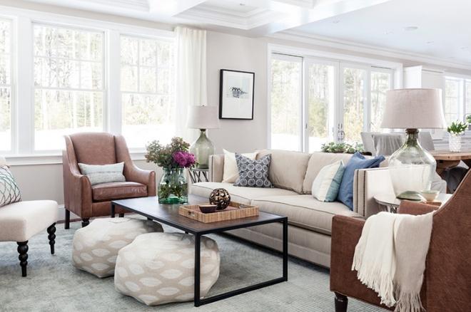 Gợi ý 20 kiểu ghế da màu nâu trang trí phòng khách không bao giờ lỗi mốt - Ảnh 10.