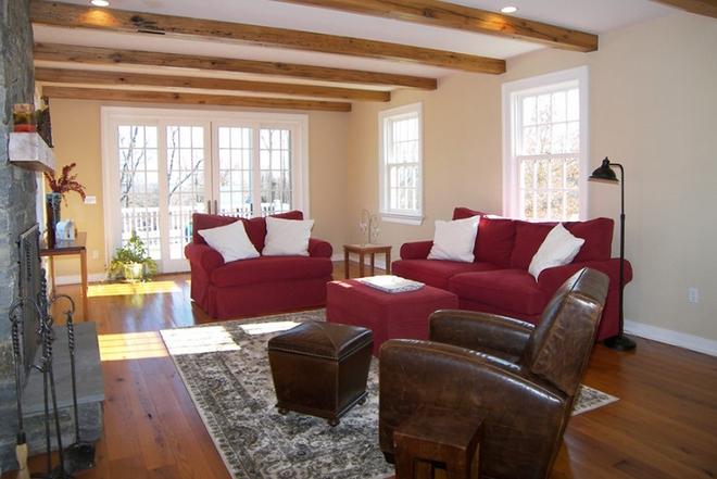 Gợi ý 20 kiểu ghế da màu nâu trang trí phòng khách không bao giờ lỗi mốt - Ảnh 11.