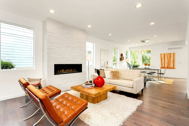 Gợi ý 20 kiểu ghế da màu nâu trang trí phòng khách không bao giờ lỗi mốt - Ảnh 12.