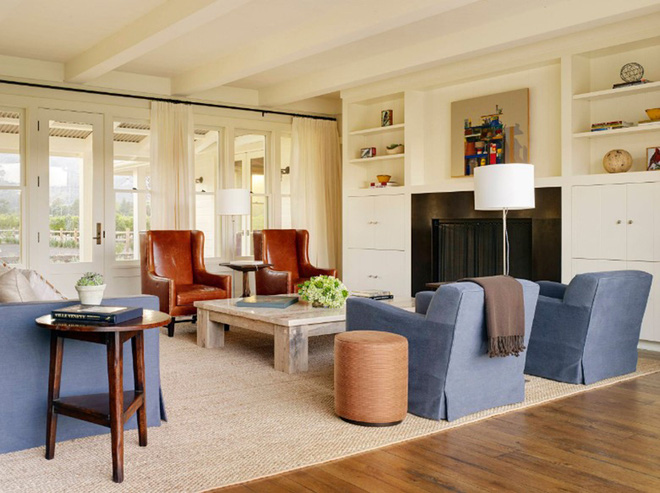 Gợi ý 20 kiểu ghế da màu nâu trang trí phòng khách không bao giờ lỗi mốt - Ảnh 13.