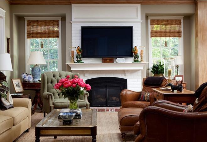 Gợi ý 20 kiểu ghế da màu nâu trang trí phòng khách không bao giờ lỗi mốt - Ảnh 18.