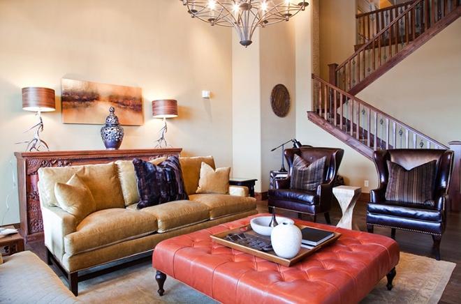 Gợi ý 20 kiểu ghế da màu nâu trang trí phòng khách không bao giờ lỗi mốt - Ảnh 20.