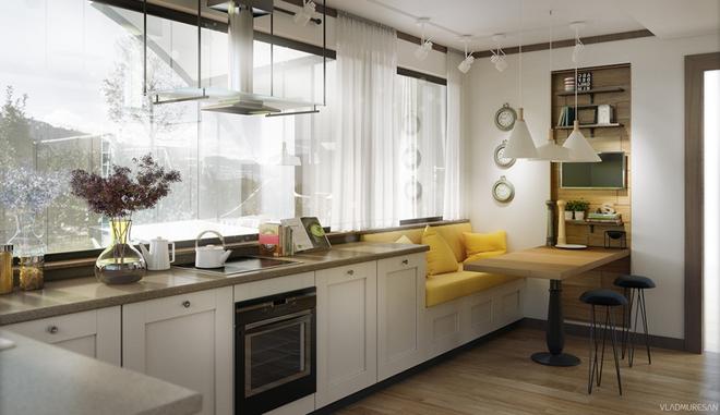 Những góc ăn sáng lãng mạn trong nhà bếp - Ảnh 2.