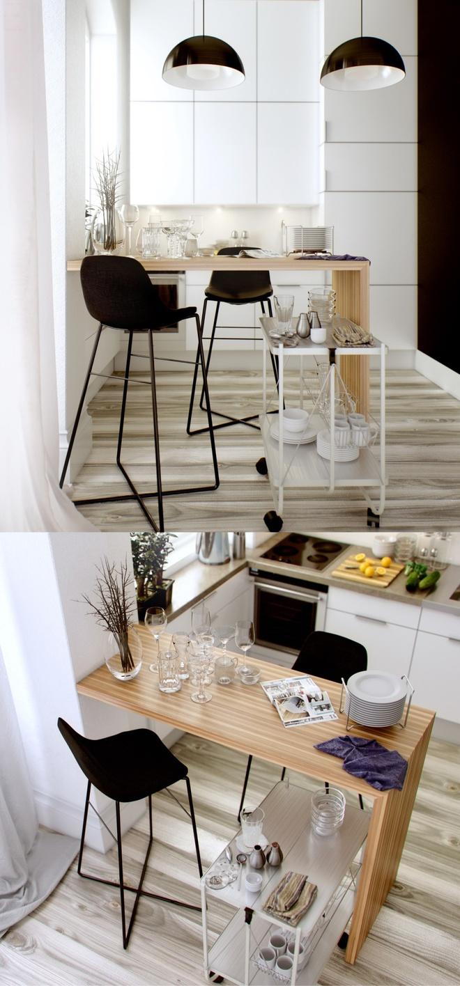 Những góc ăn sáng lãng mạn trong nhà bếp - Ảnh 12.