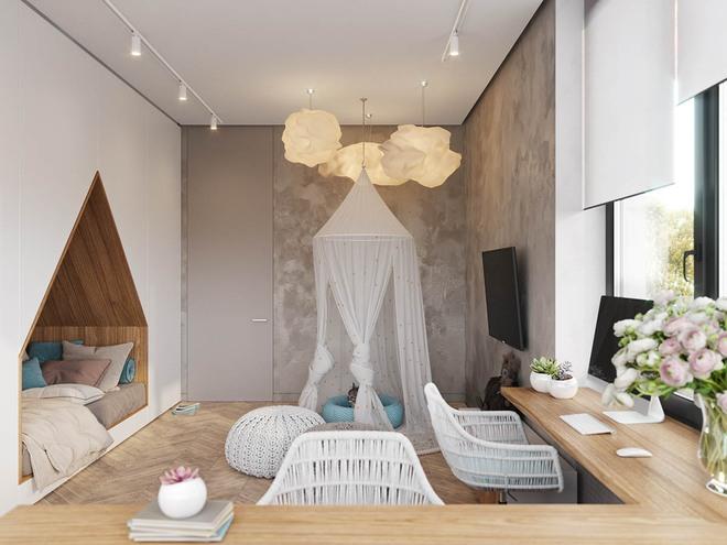 Những mẫu phòng ngủ đẹp mê ly như thế giới thần kỳ dành cho trẻ nhỏ - Ảnh 5.
