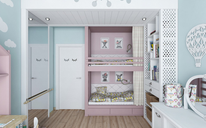 Những mẫu phòng ngủ đẹp mê ly như thế giới thần kỳ dành cho trẻ nhỏ - Ảnh 21.