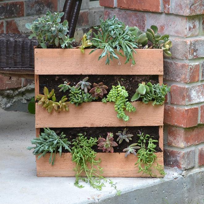 Những cách đơn giản để tạo nên khu vườn đẹp tuyệt từ gỗ pallet - Ảnh 5.