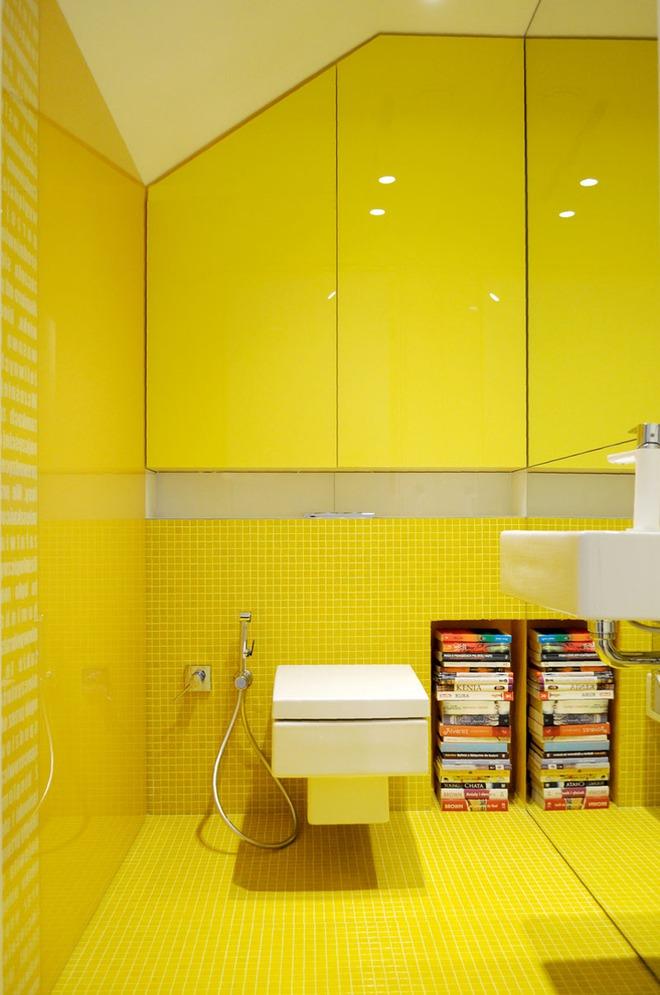Những căn phòng tắm với sắc vàng tươi khiến bạn thấy sảng khoái ngay khi vừa bước vào - Ảnh 4.
